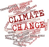 Word cloud for Climate Change poster
