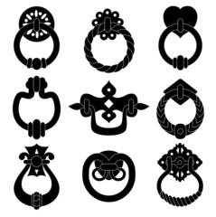 Door handle silhouettes