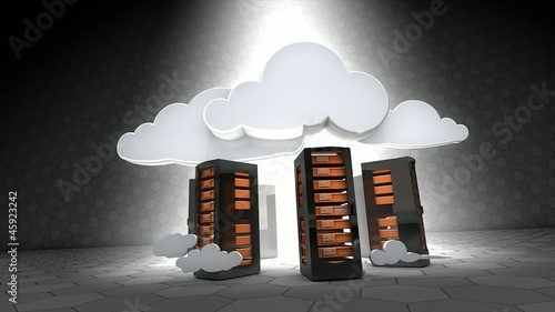 Concept animation, Cloud server.