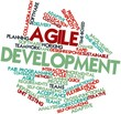 Word cloud for Agile Development