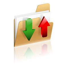 Download and Upload Folder Icon