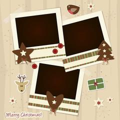 christmas scrapboking - place your photos
