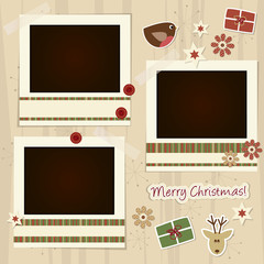 christmas scrapboking - place your photos