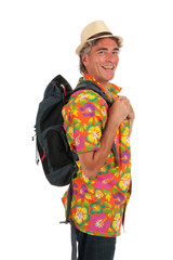 Tourist with backpack