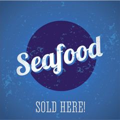 Seafood vintage print
