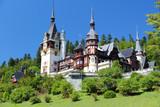 Romania - famous Peles castle poster