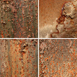 Rusty corten steel background set