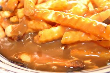 Poutine; Gravy on Fries