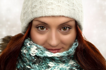 young winter woman