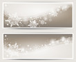 Schneeflocken Design Banner