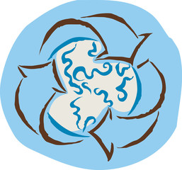 recycle symbol enveloping the earth