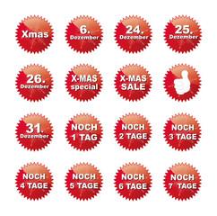 Weihnachts Reklame Button Set