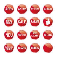 Werbe-Sticker Set  VERKAUF