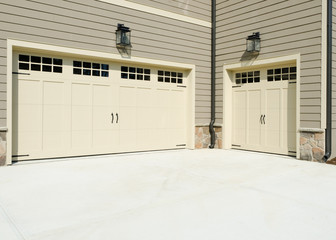 Three cars garage exterior