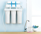 Home water filter to purify your drinking water poster