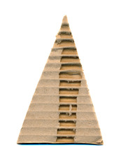 triangle corrugated paper isolated on white