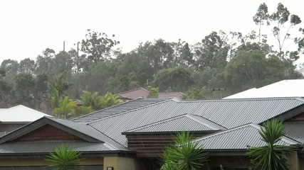 Thunderstorm in the suburbs