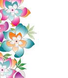 Vector banner of creative flowers