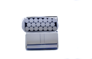 cartoon box with cigarettes