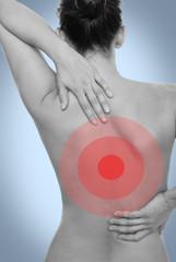 Rücken schmerzen Frau