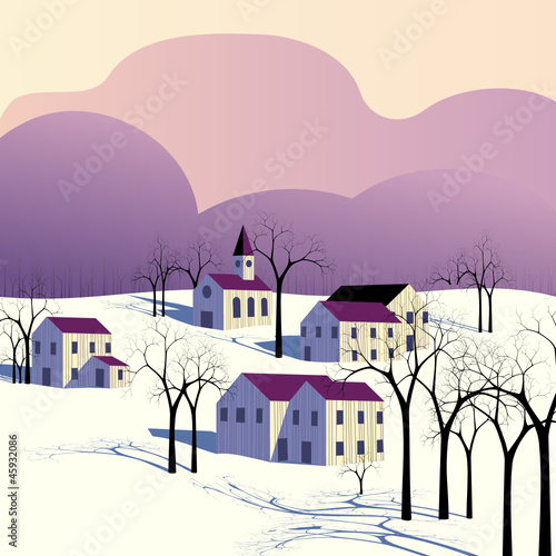 Winter morning landscape