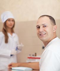 Procedure of  blood capture from vein