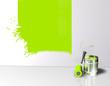 Wand Farbstreifen Klecks Grün