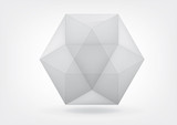 Fototapety Transparent  cuboctahedron for your graphic design