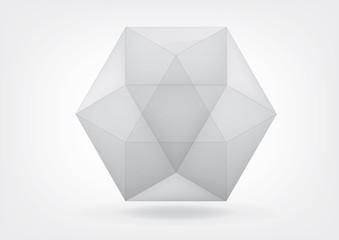 Transparent  cuboctahedron for your graphic design