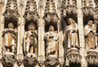 Medieval memorial statues of famous citizens