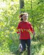 Laufen im Herbstwald