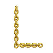 3d Gold Chain Alphabet Font - L