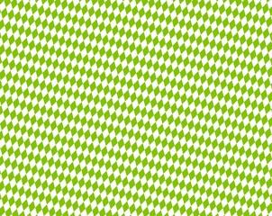 Rautenmuster in Grün und Weiß - Hintergrund