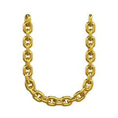 3d Gold Chain Alphabet Font - U