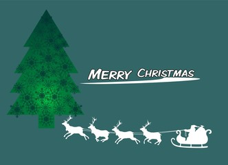 Christmas background with a fir-tree