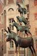 Leinwanddruck Bild Bremer Stadtmusikanten