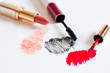 Feminine cosmetics on a light background