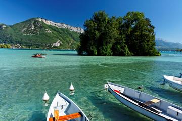 Barques sur le lac d'Annecy