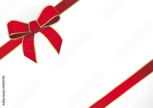 rotes Geschenkband