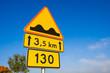 Znak drogowy / Nierówna droga