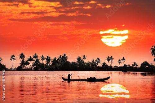 Tropikalny zachód słońca