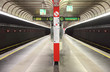metro station with two path in Vienna, Austria - 45938845