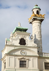 Tower on St. Charles church in Vienna, Austria
