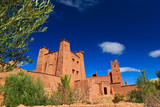 Beautiful view of kasbah Ait ben Haddou in Morocco
