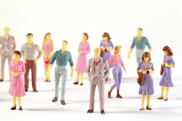 Toy, miniature figures of human