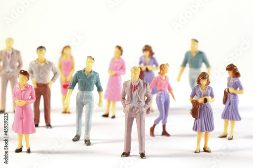 Toy, miniature figures of human - 45939223