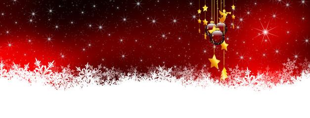 Sternenhimmel, Schnee, Vorlage, Hintergrund, Banner, Panorama