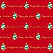 クリスマスのパターン赤