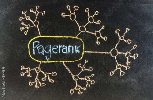 EDGERANK CONCEPT handwritten with chalk  on a blackboard