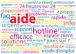 """Nuage de Tags """"AIDE"""" (contacter service clients assistance faq)"""